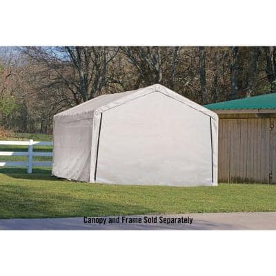 12 ft. W x 26 ft. H Enclosure Kit for SuperMax Canopy in White w/ 100% Waterproof Seams (Canopy and Frame Not Included)