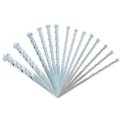 Carbide Tipped Masonry Drill Bit Set (14-Pieces)