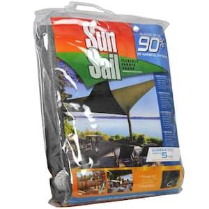 11.8 ft. Heavy-Duty Triangle Sun Sail Garden Sun Shade Canopy Fabric in Gray