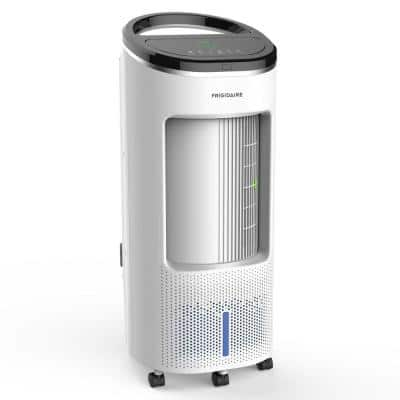 500 CFM 4-Speed 2-In-1 Evaporative Cooler (Swamp Cooler) and Fan with Wide Angle Oscillation for 250 sq. ft. - White