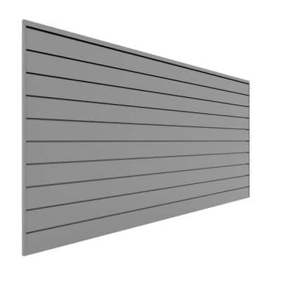 PVC Slatwall 8 ft. x 4 ft. Light Gray