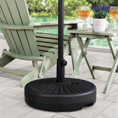 Jimson 5 lbs. Universal Black Spoke Patio Umbrella Base