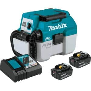 18-Volt 5.0 Ah LXT Lithium-Ion Brushless Cordless 2 Gal. HEPA Filter Portable Wet/Dry Dust Extractor/Vacuum Kit