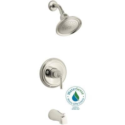 Devonshire Rite-Temp Single-Handle 1-Spray Tub and Shower Faucet in Polished Nickel (Valve Not Included)