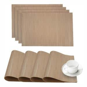 Forest Taupe Faux Leather Placemat (Set of 4)