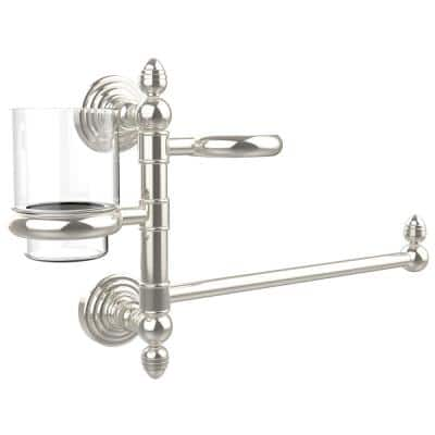 Waverly Place Collection Hair Dryer Holder and Organizer in Polished Nickel