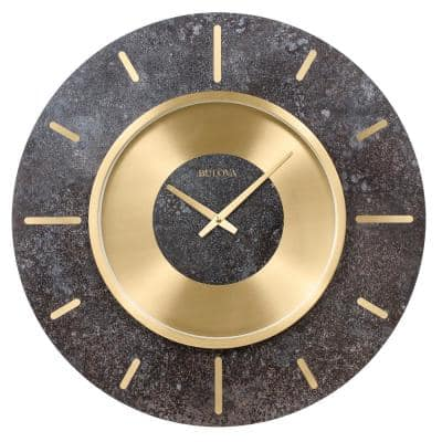 Oversized 23 in. Gallery Wall Clock with Brushed Brass Bezel