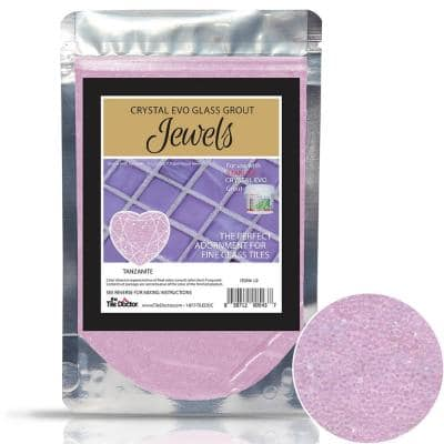 Crystal Glass Grout Jewels Tanzanite 75 grams (1-Pack)