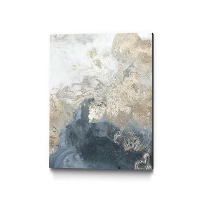 """Ocean Splash II Indigo Version"" by PI Studio Abstract Wall Art 36 in. x 24 in."
