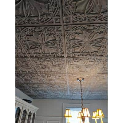 Milan 2 ft. x 2 ft. Glue Up PVC Ceiling Tile in Antique Taupe (100 sq. ft./case)