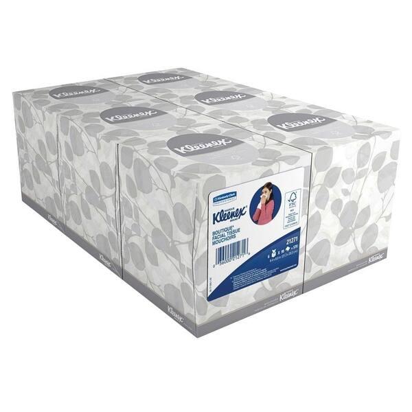 Kleenex Boutique Facial Tissue, White, 6 / Pack (Quantity)