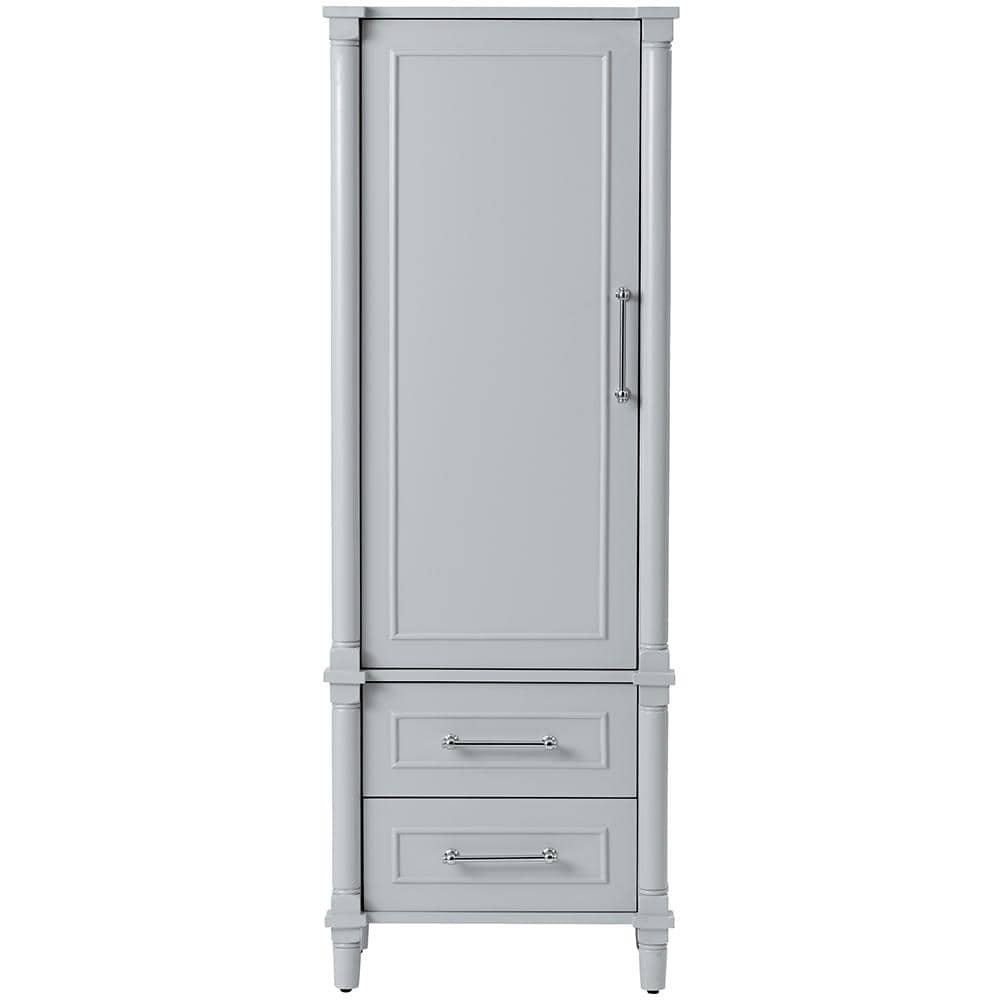 Home Decorators Collection Aberdeen 20 3 4 In W X 14 1 2 In D X 60 In H Bathroom Linen Cabinet In Dove Grey 8104000270 The Home Depot