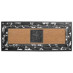 24 in. x 57 in. Sentinel Olive Rubber Coir Monogrammed I Door Mat
