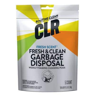 5.3 oz. Fresh & Clean Garbage Disposal Pods All Purpose Cleaner (5 Count)