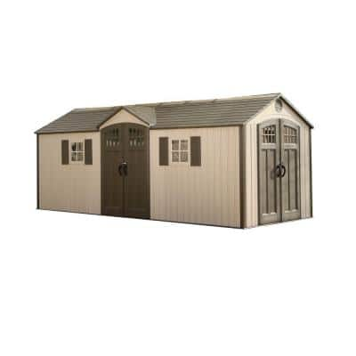 20 ft. x 8 ft. Garden Building Plastic Shed