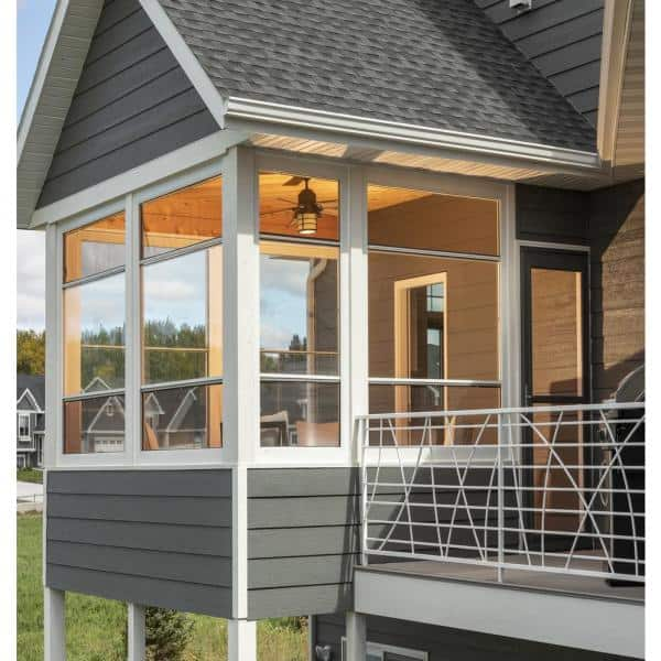 Larson 44 5 In X 72 In Scenix Double Hung Porch Aluminum Window With Retractable Screen Snx50034472 The Home Depot