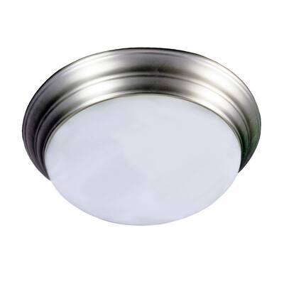 14 in. 20-Watt Brushed Nickel Integrated LED Flush Mount Ceiling Light