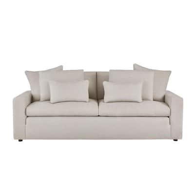 Daymont Acuff Biscuit Beige Straight Standard Sofa (91.5 in. W x 36 in. H)