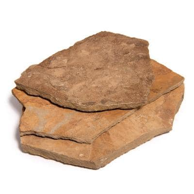 14 in. x 12 in. x 2 in. 60 sq. ft. Cameron Natural Flagstone for Landscape, Gardens and Pathways