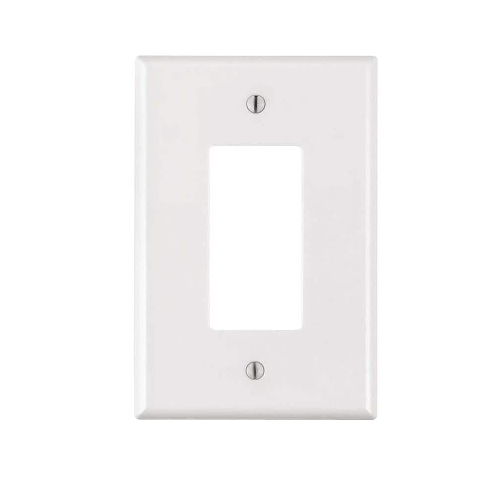Leviton White 1 Gang Decorator Rocker Wall Plate 1 Pack R52 88601 00w The Home Depot