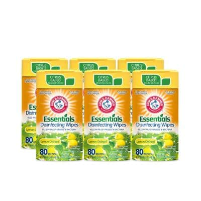 80-Count Lemon Orchard Disinfecting Wipes (6-Pack)