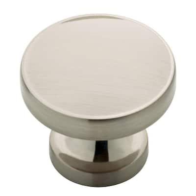 Phoebe 1-1/3 in. (34 mm) Satin Nickel Round Cabinet Knob