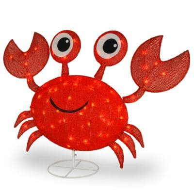 48 in. Red Crab with LED Lights