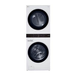 27 in. White WashTower Laundry Center with 4.5 cu. ft. Front Load Washer and 7.4 cu. ft. Gas Dryer