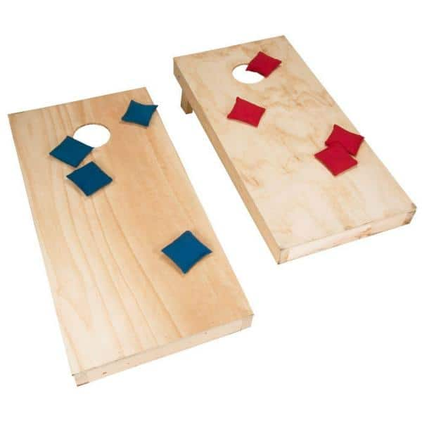 Walnut Color Bean Bag Toss Game Stained Corn Hole Boards