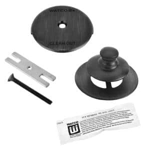 Universal NuFit Push Pull Bathtub Stopper, 1-Hole Overflow, Silicone Kit and Non-Grid Strainer, Oil-Rubbed Bronze