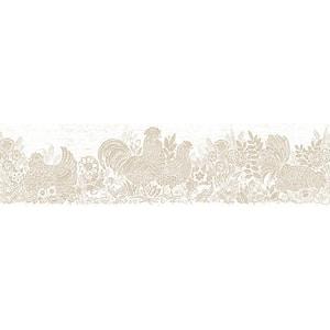 Parton Beige Chicken Beige Wallpaper Border
