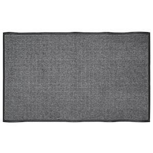 Charcoal 46 in. x 72.5 in. Rubber Commercial Door Mat
