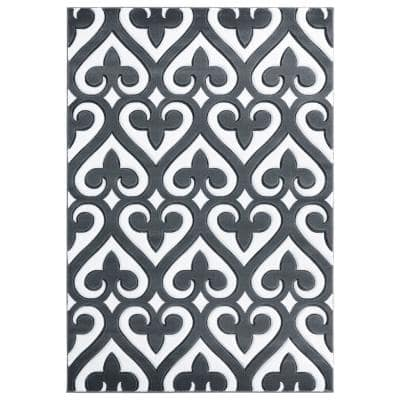Bristol Heartland Grey 2 ft. 7 in. x 4 ft. 2 in. Area Rug