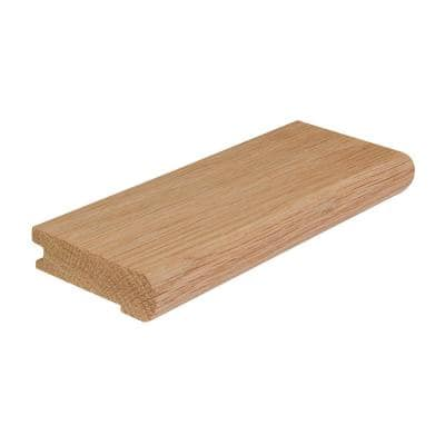 Solid Hardwood Lungo 0.5 in. T x 2.75 in. W x 78 in. L Overlap Stair Nose