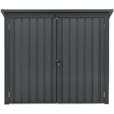 3.3 ft. x 5.2 ft. x 4.4 ft. Galvanized Steel Trash and Recyclables Storage Shed
