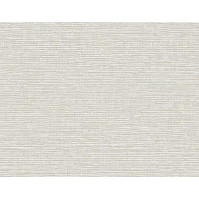 Vivanta Light Grey Texture Grass Cloth Strippable Roll (Covers 60.8 sq. ft.)