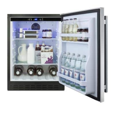 24 in. W 4.2 cu. ft. Mini Refrigerator in Stainless Steel, ADA Compliant