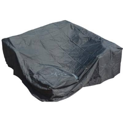 Bambi 51 in. x 51 in. x 30 in. Black Square Patio Dining and Sofa Set Cover