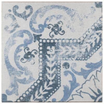 Klinker Alcazar Encaustic Roseton 12-3/4 in. x 12-3/4 in. Ceramic Floor and Wall Quarry Tile (1.13 sq. ft./Piece)