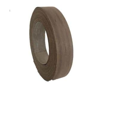 7/8 in. x 25 ft. Walnut Real Wood Veneer Edgebanding with Hot Melt Adhesive