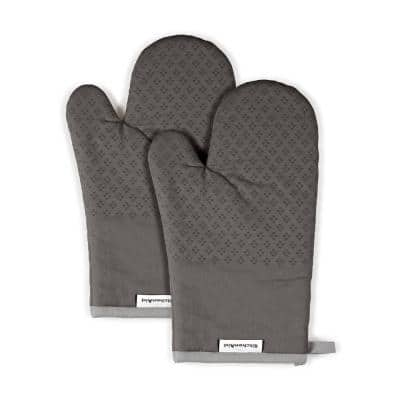 Asteroid Silicone Grip Charcoal Oven Mitt (2-Pack)