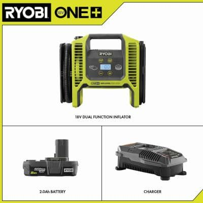 18-Volt ONE+ Dual Function Inflator/Deflator with 2.0 Ah Battery and Charger