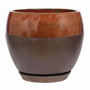 Kendall 11.81 in. x 7.09 in. Copper Ceramic Egg Planter