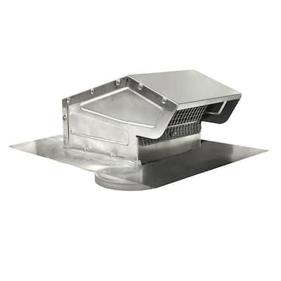 4 in. Goose Neck Vent - Roof Cap in Aluminum