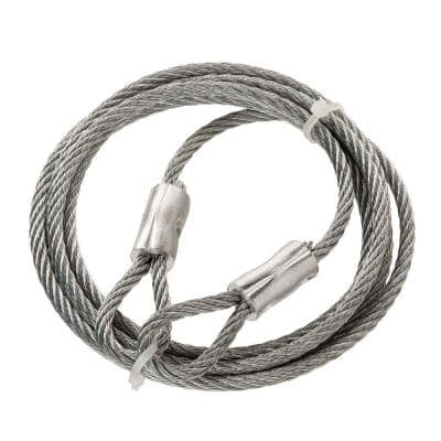 3/16 in. x 6 ft. Galvanized Steel Security Cable Wire Rope