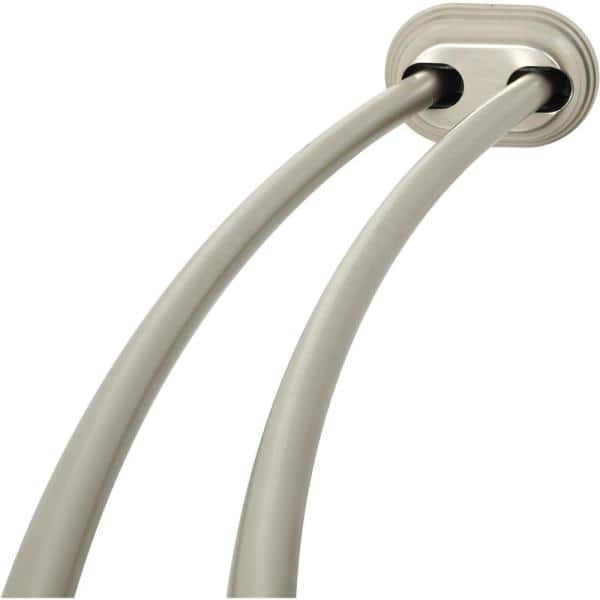Glacier Bay Rustproof 50 In To 72, How To Install A Curved Tension Shower Curtain Rod