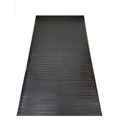 Black 2 ft. 2 in. x 10 ft. Vinyl Multi Grip Carpet-Protector