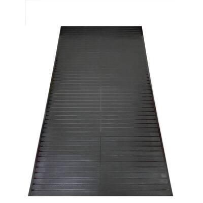 Black 2 ft. 2 in. x 12 ft. Vinyl Multi Grip Carpet-Protector