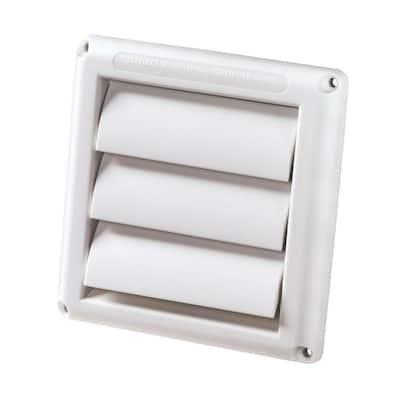4 in. White Supurr-Vent Dryer Hood