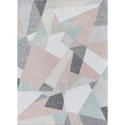 Mika Milkshake Pink 9 ft. x 12 ft. Geometric Contemporary Area Rug